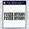 Panzer Division 2pk Decal Sticker Black Vinyl Logo Emblem 120x120