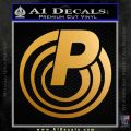 Para Firearms CR Decal Sticker Metallic Gold Vinyl 120x120