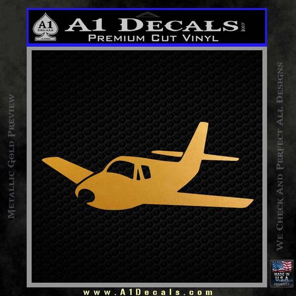 Pilot Plane Decal Sticker D1 Metallic Gold Vinyl