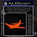 Pilot Plane Decal Sticker D1 Orange Vinyl Emblem 120x120