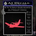 Pilot Plane Decal Sticker D1 Pink Vinyl Emblem 120x120