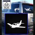 Pilot Plane Decal Sticker D1 White Vinyl Emblem 120x120