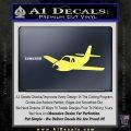 Pilot Plane Decal Sticker D1 Yellow Vinyl 120x120