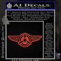 Pilot Wings Decal Sticker D1 Orange Vinyl Emblem 120x120