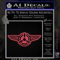 Pilot Wings Decal Sticker D1 Pink Vinyl Emblem 120x120