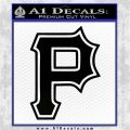 Pittsburgh Pirates Decal Sticker Black Vinyl Logo Emblem 120x120