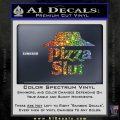 Pizza Slut Decal Sticker Sparkle Glitter Vinyl Sparkle Glitter 120x120