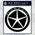 Plymouth Chrysler CR1 Decal Sticker Black Vinyl Logo Emblem 120x120