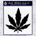 Pot Leaf DN Decal Sticker Weed SL Black Vinyl Logo Emblem 120x120