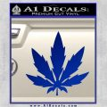 Pot Leaf DN Decal Sticker Weed SL Blue Vinyl 120x120