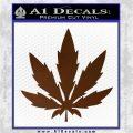 Pot Leaf DN Decal Sticker Weed SL Brown Vinyl 120x120
