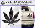 Pot Leaf DN Decal Sticker Weed SL Carbon Fiber Black 120x97