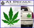 Pot Leaf DN Decal Sticker Weed SL Green Vinyl 120x97