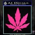 Pot Leaf DN Decal Sticker Weed SL Hot Pink Vinyl 120x120