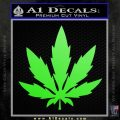 Pot Leaf DN Decal Sticker Weed SL Lime Green Vinyl 120x120