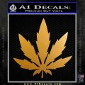 Pot Leaf DN Decal Sticker Weed SL Metallic Gold Vinyl 120x120