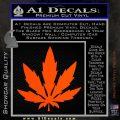 Pot Leaf DN Decal Sticker Weed SL Orange Vinyl Emblem 120x120