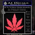 Pot Leaf DN Decal Sticker Weed SL Pink Vinyl Emblem 120x120