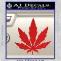 Pot Leaf DN Decal Sticker Weed SL Red Vinyl 120x120
