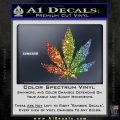 Pot Leaf DN Decal Sticker Weed SL Sparkle Glitter Vinyl Sparkle Glitter 120x120