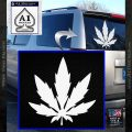 Pot Leaf DN Decal Sticker Weed SL White Vinyl Emblem 120x120