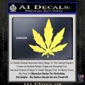 Pot Leaf DN Decal Sticker Weed SL Yellow Vinyl 120x120