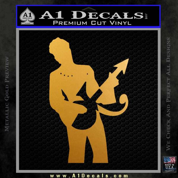 Prince Artist Formerly Known As Decal Sticker Guitar Logo Metallic Gold Vinyl