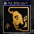 Prince Artist Formerly Known As Decal Sticker Silhouette D2 Metallic Gold Vinyl 120x120