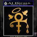 Prince Doves Cry Halo Decal Sticker Metallic Gold Vinyl 120x120