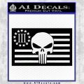 Punish Flag 3 Percenter Decal Sticker V3 Black Vinyl Logo Emblem 120x120