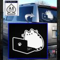 Pusheen Decal Sticker Cat Kitty Homework Laptop D2 White Vinyl Emblem 120x120