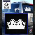 Pusheen Decal Sticker Cat Kitty Peeking D2 White Vinyl Emblem 120x120
