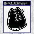 Pusheen Decal Sticker Cat Kitty Pizza Time D2 Black Vinyl Logo Emblem 120x120