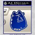 Pusheen Decal Sticker Cat Kitty Pizza Time D2 Blue Vinyl 120x120