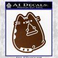 Pusheen Decal Sticker Cat Kitty Pizza Time D2 Brown Vinyl 120x120