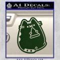 Pusheen Decal Sticker Cat Kitty Pizza Time D2 Dark Green Vinyl 120x120