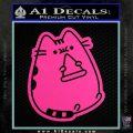 Pusheen Decal Sticker Cat Kitty Pizza Time D2 Hot Pink Vinyl 120x120