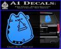 Pusheen Decal Sticker Cat Kitty Pizza Time D2 Light Blue Vinyl 120x97
