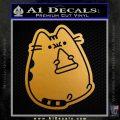 Pusheen Decal Sticker Cat Kitty Pizza Time D2 Metallic Gold Vinyl 120x120