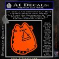 Pusheen Decal Sticker Cat Kitty Pizza Time D2 Orange Vinyl Emblem 120x120