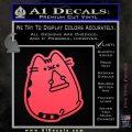 Pusheen Decal Sticker Cat Kitty Pizza Time D2 Pink Vinyl Emblem 120x120