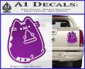 Pusheen Decal Sticker Cat Kitty Pizza Time D2 Purple Vinyl 120x97