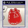 Pusheen Decal Sticker Cat Kitty Pizza Time D2 Red Vinyl 120x120