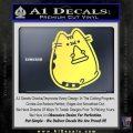 Pusheen Decal Sticker Cat Kitty Pizza Time D2 Yellow Vinyl 120x120