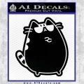 Pusheen Decal Sticker Cat Kitty Sunglasses Stand D2 Black Vinyl Logo Emblem 120x120
