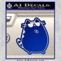 Pusheen Decal Sticker Cat Kitty Sunglasses Stand D2 Blue Vinyl 120x120