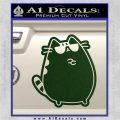 Pusheen Decal Sticker Cat Kitty Sunglasses Stand D2 Dark Green Vinyl 120x120