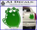 Pusheen Decal Sticker Cat Kitty Sunglasses Stand D2 Green Vinyl 120x97