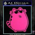 Pusheen Decal Sticker Cat Kitty Sunglasses Stand D2 Hot Pink Vinyl 120x120