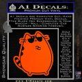 Pusheen Decal Sticker Cat Kitty Sunglasses Stand D2 Orange Vinyl Emblem 120x120